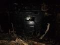 Hasiči majú za sebou rušnú noc: Zasahovali pri požiari rekreačnej chaty, škody sú veľké