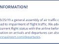 Spoločnosť Austrian Airlines zverejnila na svojej webovej stránke len krátky oznam.