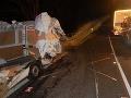 Kamionista prešiel do protismeru v mieste, kde je to zakázané: FOTO Zomrel nevinný vodič (†60) dodávky