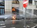 Výbuch plynu na Gorkého ulici v Bratislave.