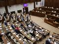 Atmosféra v pléne pred plánovaným rokovaním mimoriadnej 44. schôdze NR SR