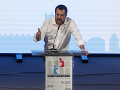 Matteo Salvini na Svetovom kongrese rodín vo Verone.