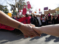 Protest proti Svetovému kongresu rodín vo Verone.