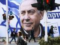 Palestínčanom sa zvýšila morálka: Môže za to obžaloba izraelského premiéra z korupcie