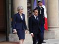 Veľké stretnutie lídrov v Paríži: Mayová hovorila s Macronom, téma rozhovoru vás neprekvapí