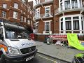 Ekvádorské veľvyslanectvo v Londýne.