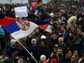 Demonštrácie v Srbsku neutíchajú: Ľudia protestujú proti prezidentovi Vučičovi