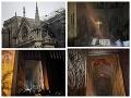 Skaza symbolu Francúzska: Prvé FOTO a VIDEO spáleného interiéru katedrály Notre-Dame