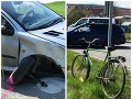 Desivé nehody v Trenčianskom kraji: FOTO Žena vpálila do stĺpa, muž narazil do starčeka s bicyklom