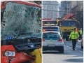 Vážna dopravná nehoda autobusu a trolejbusu v Bratislave.