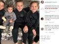 Danielle Lloyd je matkou týchto štyroch chlapcov.