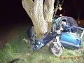 Fatálna nehoda pri Hronovciach! Desivé FOTO škodovky po náraze do stromu, muž nemal šancu