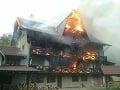 FOTO Požiar penziónu pri Žiari nad Hronom: Polícia už začala trestné stíhanie