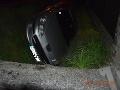 FOTO Banskobystrickí policajti riešili kurióznu nehodu: Mladík mal za sebou rušnú noc