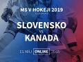 Slovensko - Kanada: Online prenos z MS v hokeji 2019