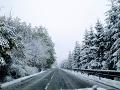 Aktuálna situácia na ceste v Príslope (okres Snina).