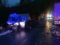 Nehoda v katastri obce Strečno.