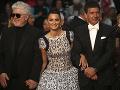 Hlavné hviezdy filmovej premiéry - režisér Pedro Almodovar, herečka Penélope Cruz a herec Antonio Banderas.