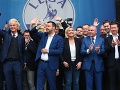 Kollár na oslavách aliancie európskych nacionalistických strán: FOTO Som rád, že tu som