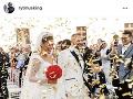 Patrik Rytmus Vrbovský sa pochválil takouto fotkou zo svadby.