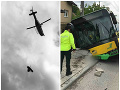 MIMORIADNE Vážna nehoda autobusu v Žiline: FOTO Viezli sa v ňom prevažne deti, počet zranených stúpol