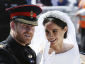 Meghan a Harry počas svadobného dňa.