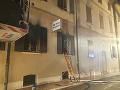 Vyhorená policajná stanica v