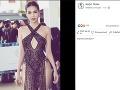 Ngoc Trinh sa fotkami v odvážnych šatách pochválila aj na sociálnych sieťach.