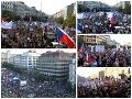 Obrovská demonštrácia v Prahe: VIDEO Proti Babišovi a jeho ministerke protestovali desaťtisíce ľudí