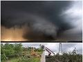 Ničivé búrky v Poľsku.