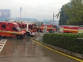 Požiar opustenej budovy v Bratislave.