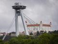 Vyhliadková veža UFO v Bratislave.