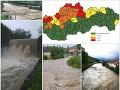 MIMORIADNA SITUÁCIA Slovensko čaká ťažká noc: MAPA, kde hrozia povodne, rieky sa vylievajú