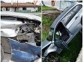 Kuriózna nehoda na križovatke: FOTO Auto vinníka odhodilo, prerazilo zábradlie a skončilo v potoku