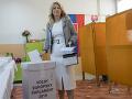 zvolená prezidentka SR Zuzana Čaputová zahlasovala v Pezinku.