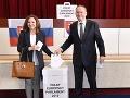 Andrej Kiska s manželkou Martinou odvolili v Poprade.