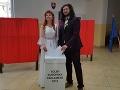 Volebný akt nevesty a ženícha v obci Ľutina v okrese Sabinov počas volieb do Európskeho parlamentu.