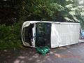 Hrozivo vyzerajúca nehoda v Žiarskom okrese: FOTO Havarovala sanitka, ktorá viezla pacientov