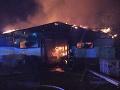 Ničivý požiar v Košiciach: FOTO Budova píly v plameňoch, škody za státisíce eur