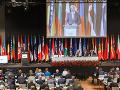 Béla Bugár počas príhovoru v rámci plenárneho rokovania pri príležitosti Jarného zasadnutia Parlamentného zhromaždenia NATO
