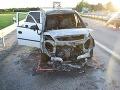 Kuriózna nehoda v Galante: FOTO Žena nafúkala viac ako jedno promile, auto začalo horieť