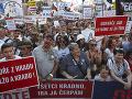 Protesty proti Babišovi sa konali v stovkách českých miest: Vrchol demonštrácií bude v Prahe