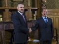 Pellegrini na návšteve v Moskve: FOTO Stretol sa s Medvedevom, prijali dva dôležité dokumenty