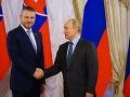 Peter Pellegrini na stretnutí s Vladimírom Putinom.