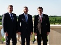 Peter Pellegrini, Miroslav Lajčák a Peter Žiga na stretnutí s Vladimírom Putinom.