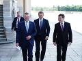 Peter Pellgerini, Miroslav Lajčák a Peter Žiga na stretnutí s Vladimírom Putinom.