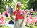 Zlatica Švajdová Puškárová je tvárou kampane už niekoľko rokov. Sukňa, ktorú mala na sebe, je dokonca putovná a obliekla si ju na pochod už po piaty raz.