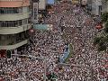 FOTO Obrovské demonštrácie v Hongkongu: Milión ľudí odmieta zásadnú zmenu v trestnom zákone