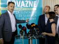 Igor Matovič oznamuje vznik platformy Odvážne na tlačovej konferencii 10. júna