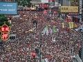 Čína podporuje odloženie zákona o extradícii: Protesty v Hongkongu budú pokračovať